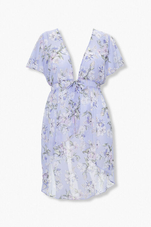 Plus Size High-Low Floral Tunic, image 1