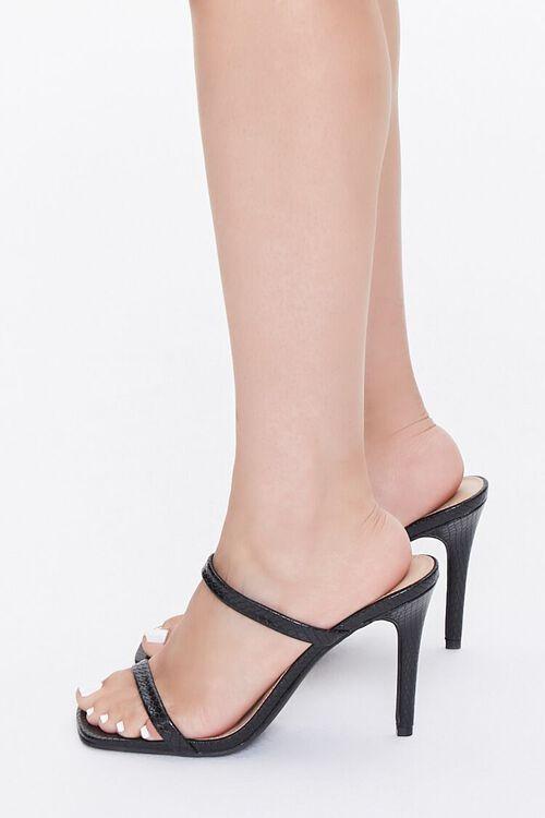 Faux Croc Slip-On Heels, image 2