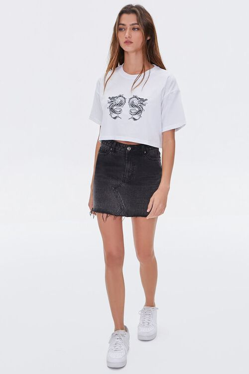 Cropped Dragon Graphic Tee, image 4