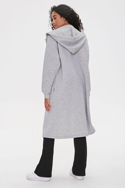 Hooded Heathered Duster Jacket, image 3