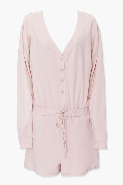 Buttoned Drop-Sleeve Romper, image 1