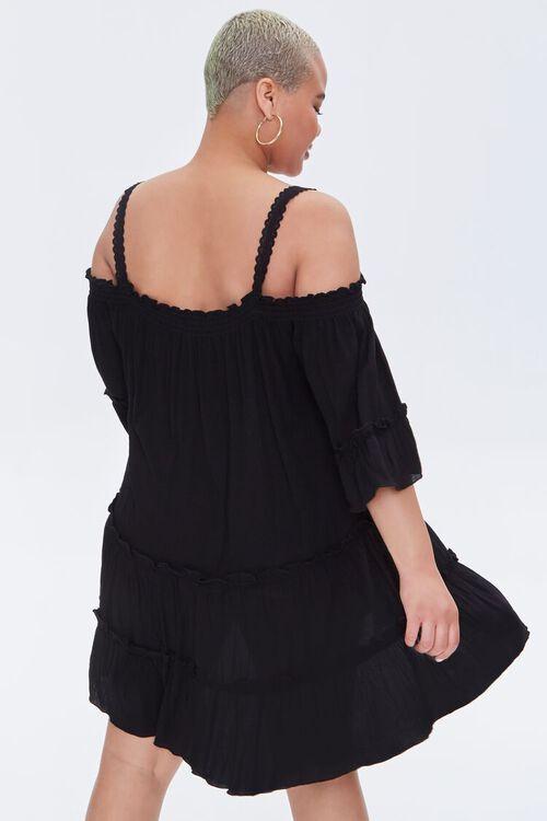 Plus Size Off-the-Shoulder Mini Dress, image 3