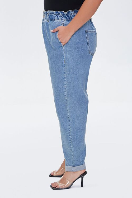 Plus Size Paperbag Ankle Jeans, image 3