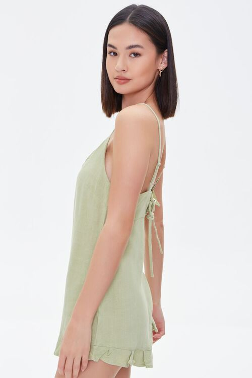 Lace-Up Cami Romper, image 2