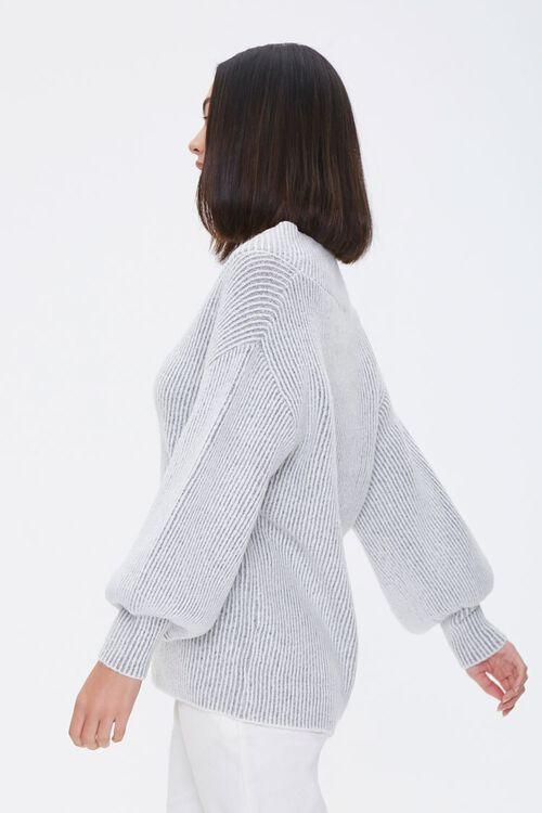 Ribbed Surplice Sweater, image 2