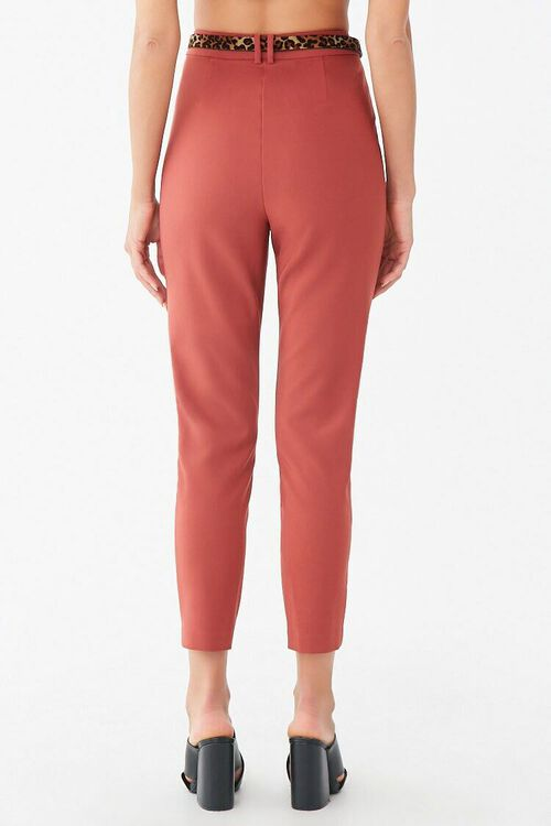 Belted Hook-and-Eye Ankle Pants, image 3