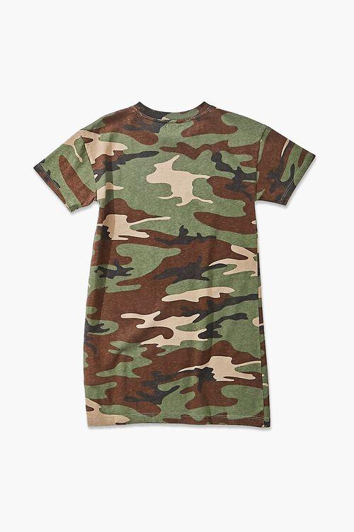 Girls Camo Print T-Shirt Dress (Kids), image 2