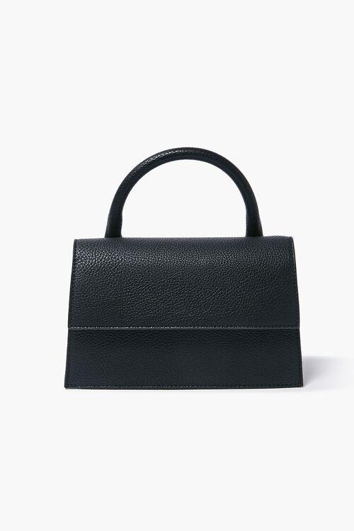 BLACK Structured Flap-Top Crossbody Bag, image 1