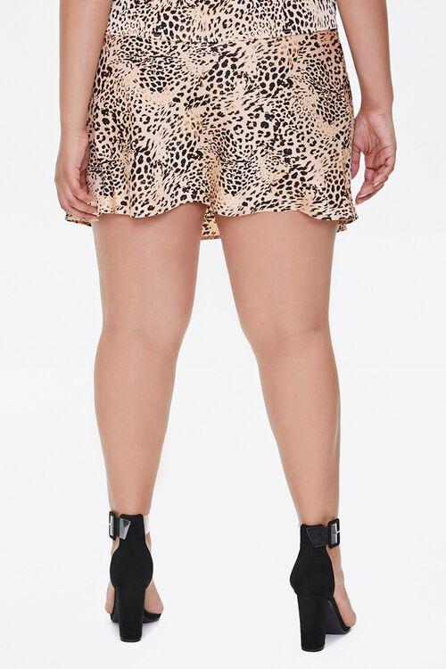 Plus Size Satin Animal Print Mini Skirt, image 4