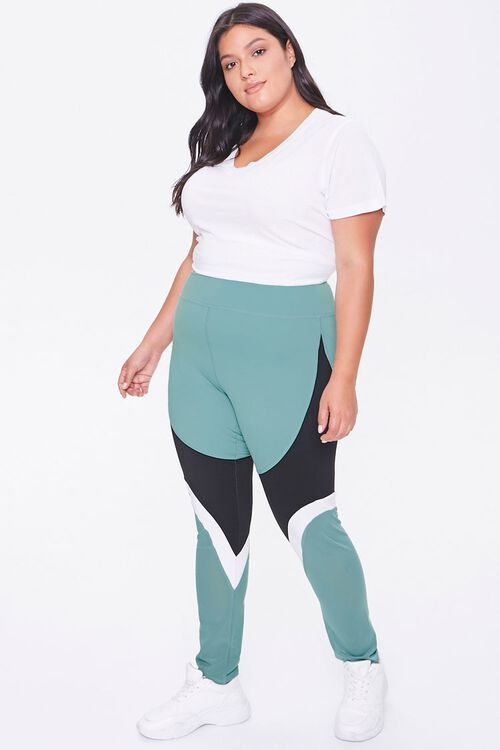 Plus Size Active Colorblock Leggings, image 5