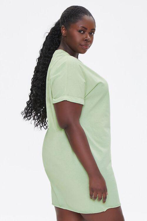 Plus Size Cuffed T-Shirt Dress, image 2