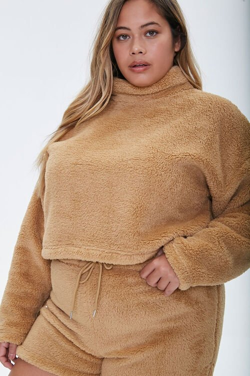 Plus Size Fuzzy Pullover, image 1