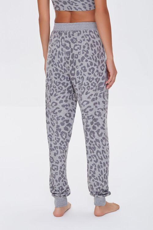 GREY/CHARCOAL Leopard Print Lounge Pants, image 4