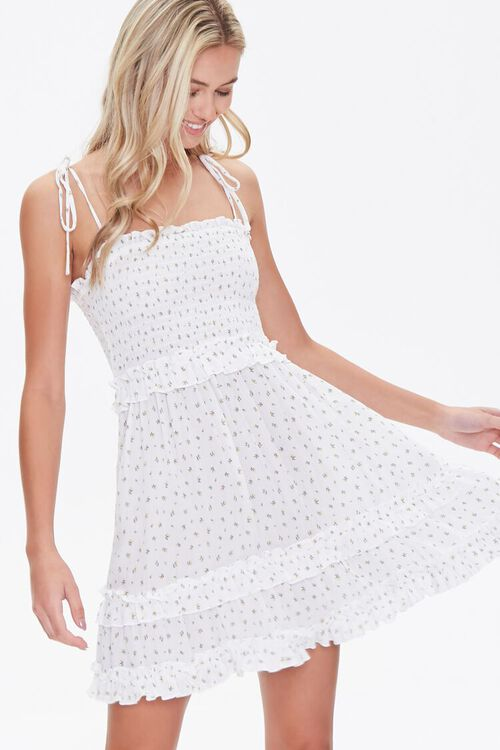 Floral Print Mini Dress, image 1
