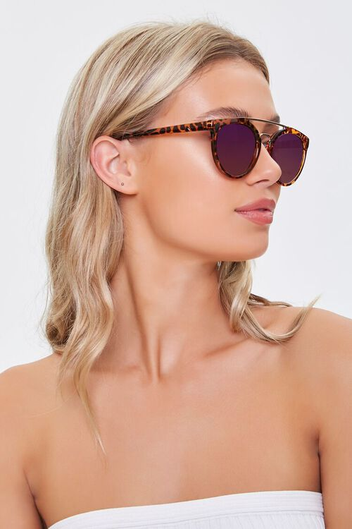 Tortoiseshell Aviator Sunglasses, image 2