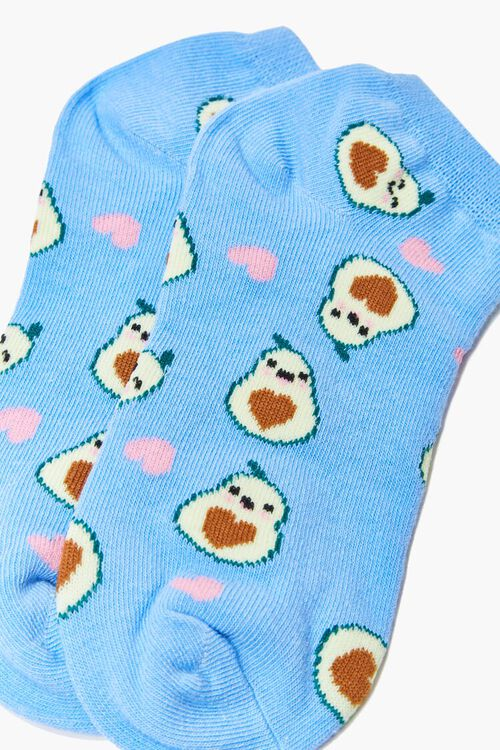 Avocado Print Ankle Socks, image 3