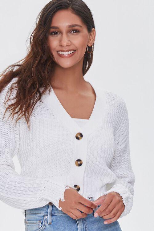 CREAM Sharkbite Cardigan Sweater, image 1