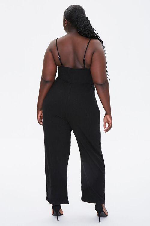 Plus Size Straight-Leg Cami Jumpsuit, image 3