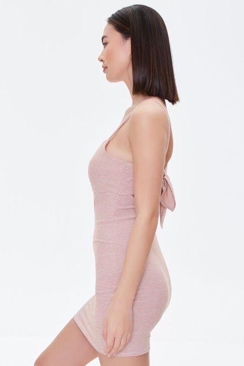 RED/CREAM Tie-Back Bodycon Dress, image 2
