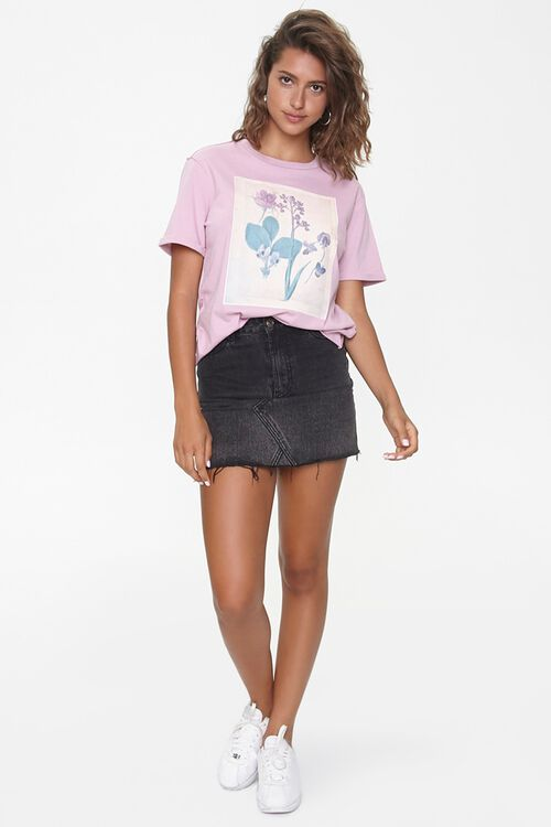 Floral Graphic Crew Tee, image 4