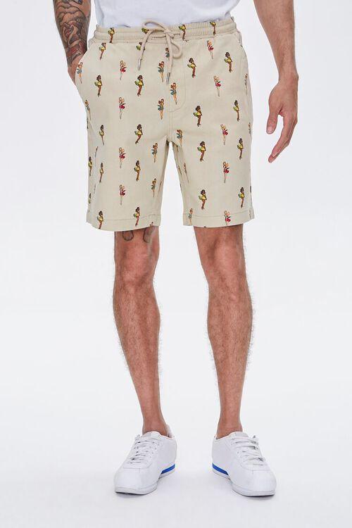 Woman Print Drawstring Shorts, image 2