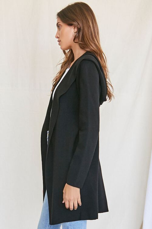 BLACK Open-Front Cardigan Sweater, image 2