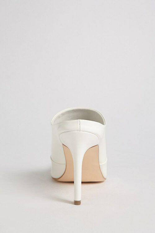 Faux Patent Leather Stiletto Mules, image 5