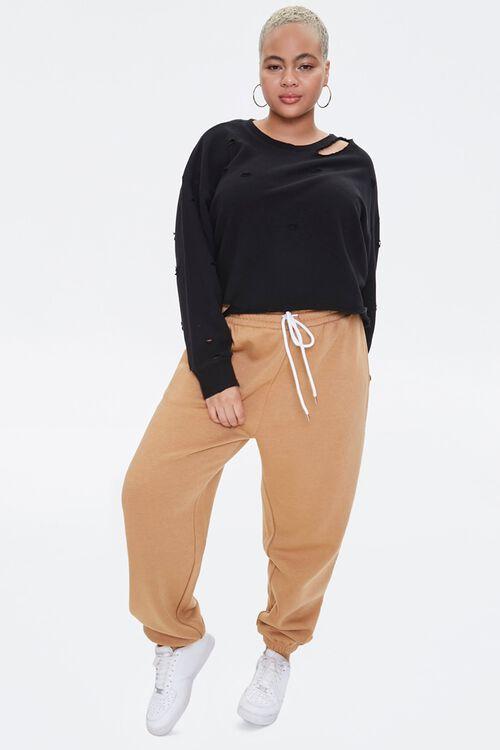 Plus Size Distressed Sweatshirt, image 4