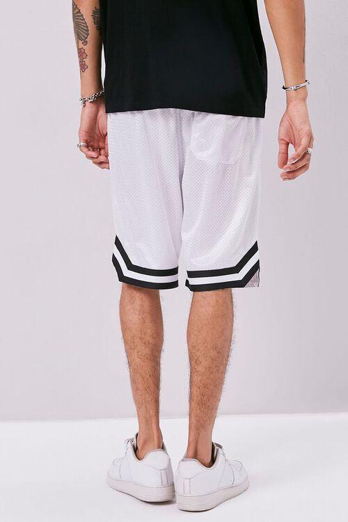 Varsity-Striped Mesh Shorts, image 4