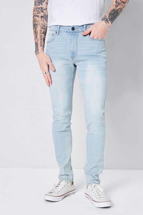 LIGHT DENIM Stonewash Skinny Jeans, image 2