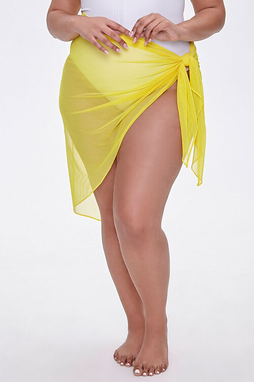 Plus Size Sarong Swim Cover-Up, image 2