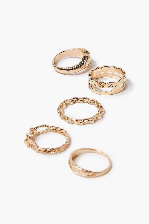 Heart Charm Ring Set, image 1