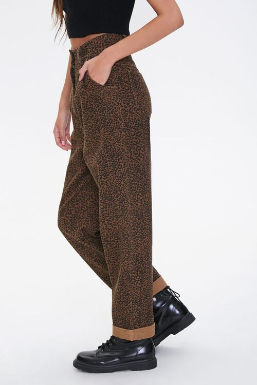 Leopard Print High-Rise Pants, image 2