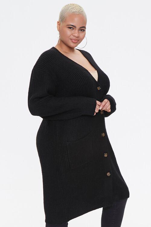 Plus Size Longline Cardigan Sweater, image 2