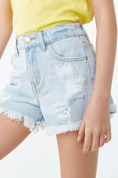 Girls Distressed Denim Shorts (Kids), image 5