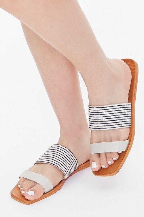 Striped Dual-Strap Sandals, image 1