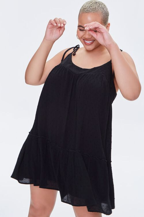 Plus Size Clip Dot Mini Dress, image 1