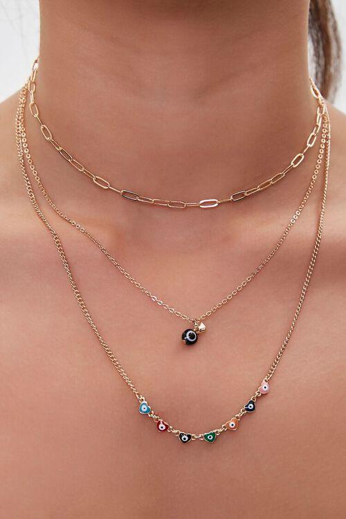 Beaded Charm Necklace Set, image 1