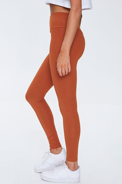 Basic Cotton-Blend Leggings, image 3