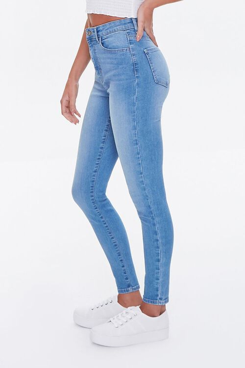 MEDIUM DENIM Essential High-Rise Skinny Jeans, image 3