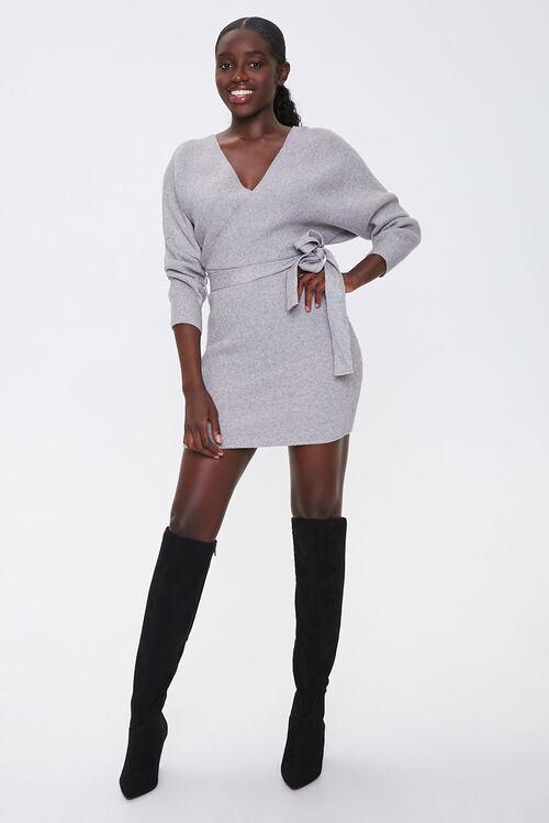Ribbed Wrap Mini Dress, image 4