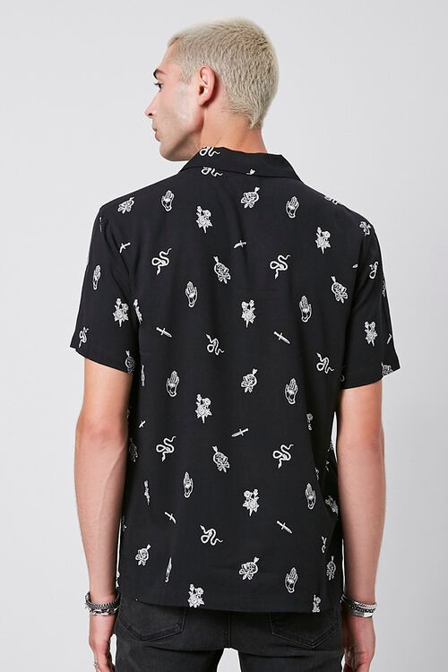 Classic Fit Snake & Skull Print Shirt, image 3