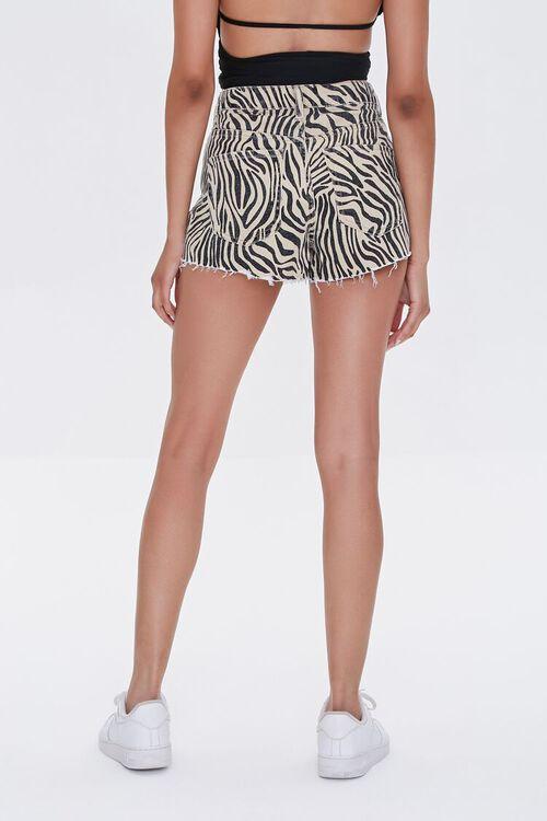 Tiger Striped Denim Shorts, image 4