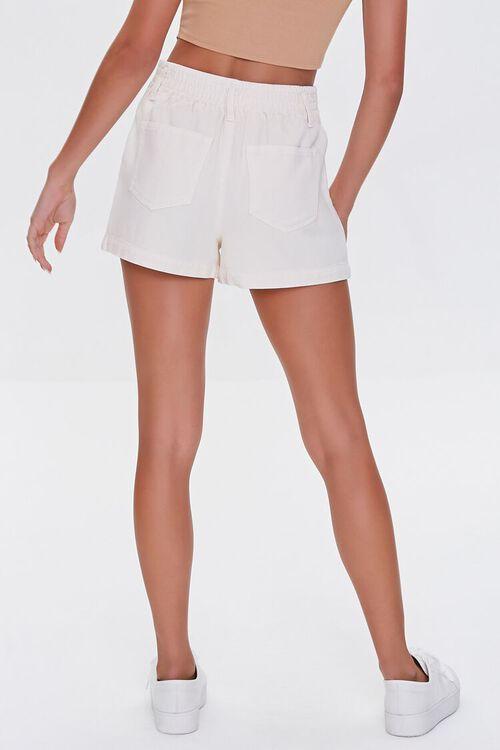 Pleated High-Waist Denim Shorts, image 4