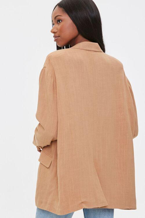 Linen-Blend Button-Front Blazer, image 3