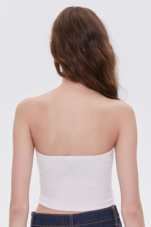 Stretch Ribbed Cropped Tube Top, image 3