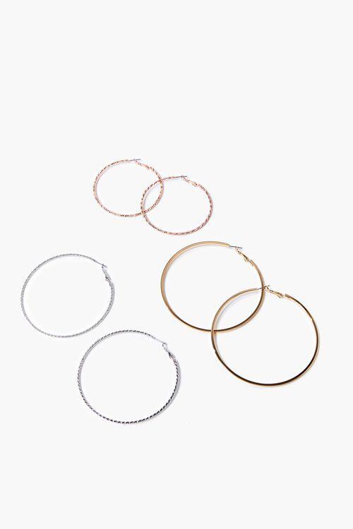 Metallic Hoop Earring Set, image 1