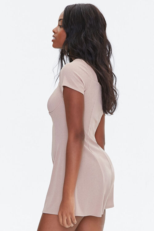 Ribbed Bustier Romper, image 2