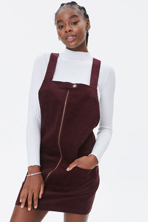 Zippered Pinafore Dress, image 1