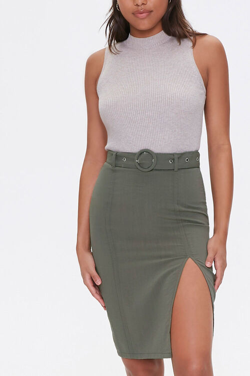 Belted Mini Skirt, image 1